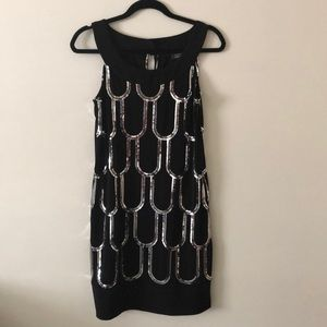 Black with Silver Sequin Dress - Dress Barn